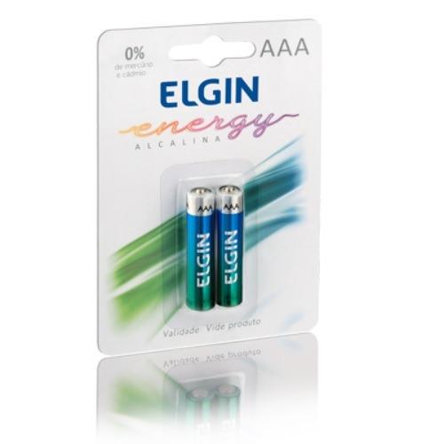 Pilha Alcalina Elgin Aaa Lr3 Blister Original C/ 2 Unidades