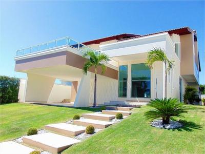 Casa Com 5 Dormitórios À Venda, 480 M² Por R$ 1.890.000 - Condomínio Alphaville Fortaleza Residencial - Eusébio/ce - Ca0216