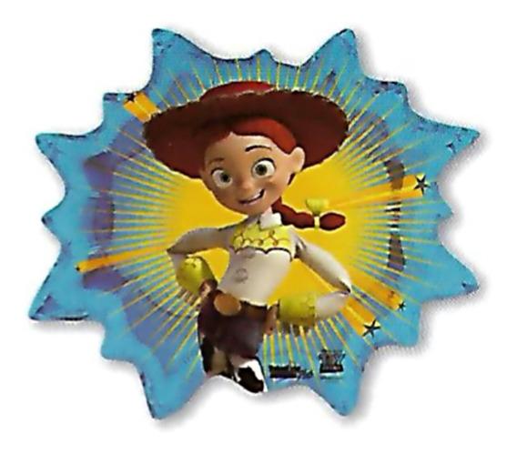 6 Globos Metalico 22pulg Toy Story Vaquerita Jessie 52cm Hel