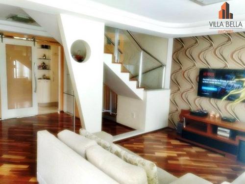 Sobrado Com 3 Dormitórios À Venda, 174 M² Por R$ 1.000.000,00 - Jardim Bela Vista - Santo André/sp - So1056