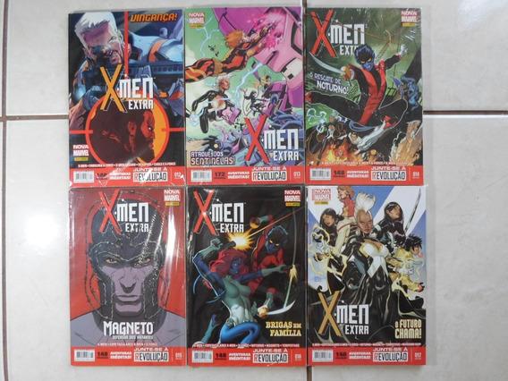 X-men Extra Nova Marvel 12 A 17 Panini Lote Com 6 Hqs