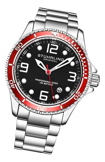 Relógio Stuhrling - Aquadiver Caballero Quartzo 3930.4