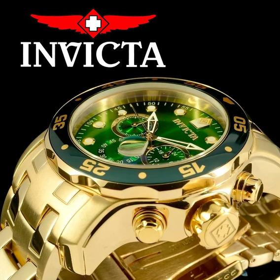 Relógio Invicta Masculino Pro Diver 0075 Scuba Banhado Ouro 18k Original Nota Fiscal Garantia + Super Brinde