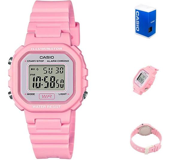 Reloj Casio La20 4a Rosa Dama Digital Correa Full