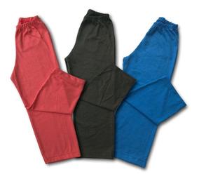 Calca Menino Infantil Kit Com 3 Em Meia Malha Algodão 227k