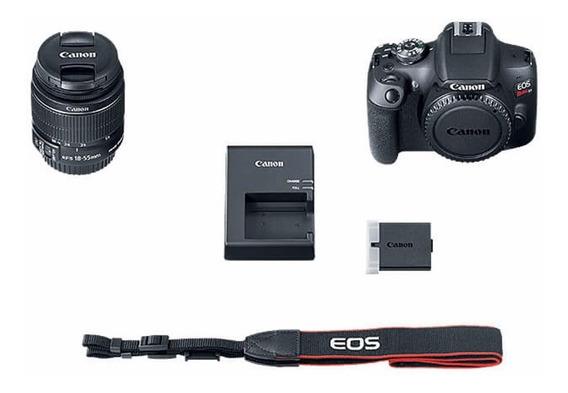 Câmera Canon Eos T7 Lente 18-55 Is Ii Rev. Autorizada Nfe