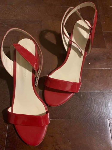 Sandalias De Charol Rojo Paula Cahen Danvers