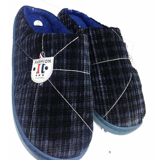 Pantufla Adulto Color Azul Por Talla 40-45