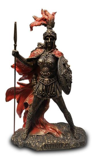 Imagem Deusa Grega Atena Athena Sabedoria Estátua Resina25cm