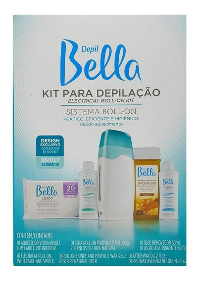 Kit Depil Bella Para Depilação Roll-on Bivolt