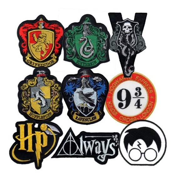 Parche Bordado Harry Potter Gryffindor Slytherin X 1