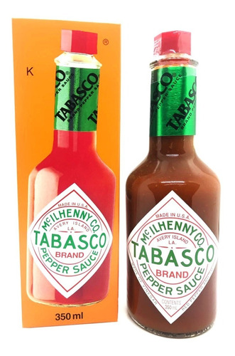 Imagen 1 de 3 de Combo 2u Salsa Picante Tabasco Original 350 Ml + Envio!!