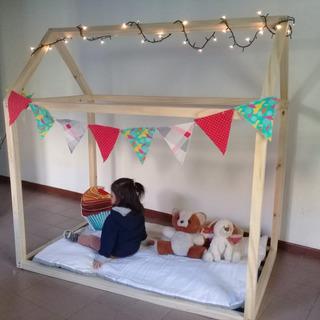 Cama Casita Estilo Montessori