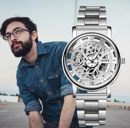 Relógio Masculino Prata Analógico Barato Promoção Imperdivel