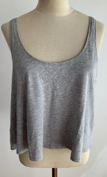 H&m. Divina Musculosa Gris. Mujer. Talle Xs