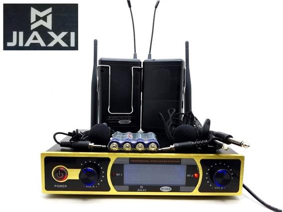Microfone Sem Fio Profissional Bivolt Wireless Jiaxi 51302