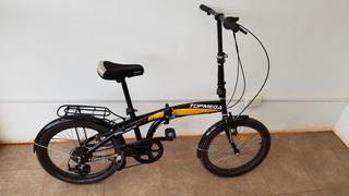 Bicicleta Plegable Rodado 20 Top Mega