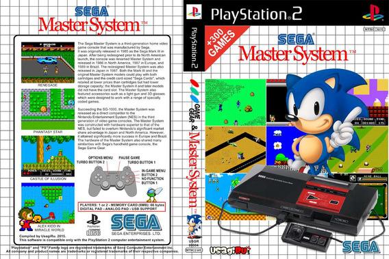 Emulador Master System Para Ps2 Dvd + 300 Games Frete Baixo