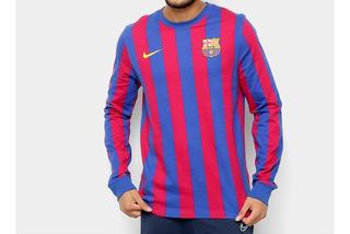 Camisa Barcelona Nike Masculina Manga Longa Original Retro