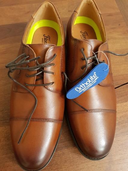 Zapatos Florsheim Color Cognac Talle 10.5 Us Wide, Nuevos.