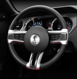 Molduras Volante Fibra Carbono Mustang 2010-2014