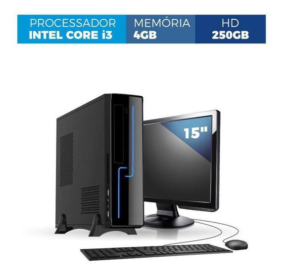 Computador Corporate Slim I3 4gb 250gb Kit Monitor 15