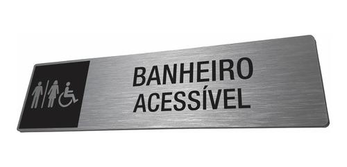Placa Banheiro Com Acessibilidade Adaptado Acessível