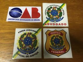 4 Adesivos: Advogado, Oab, Oficial De Justiça, J. Federal