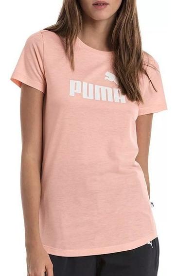 Puma Remera Ess+ Logo Heather Peach