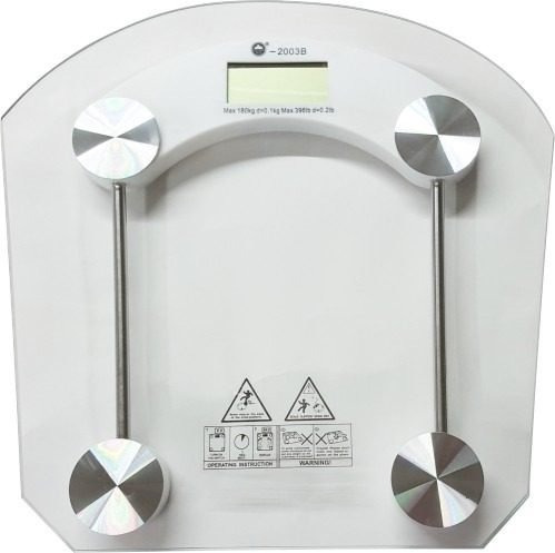Bascula Personal Digital 180kg De Vidrio Temprado