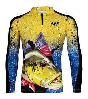 Camiseta De Pesca King Proteção Solar Uv Kff60 Camisa Blusa