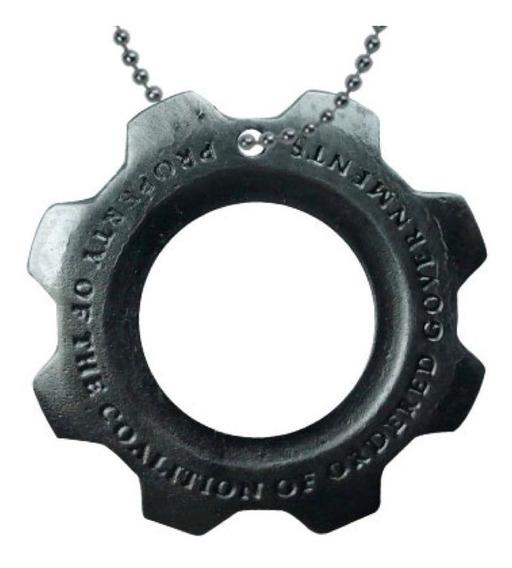 Gears Of War Dije Collar Cog Tag Marcus Engrane Coalicion