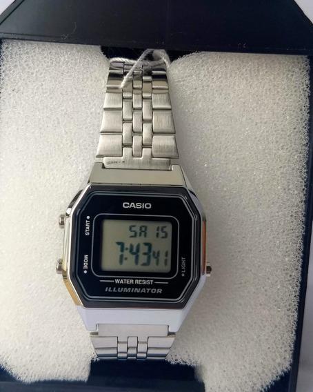 Relógio Casio La 680wa-1df Digital Feminino Prata Original