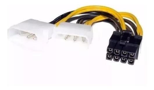 Cable Adaptador Dual Molex A 8 Pin Tarjeta De Video