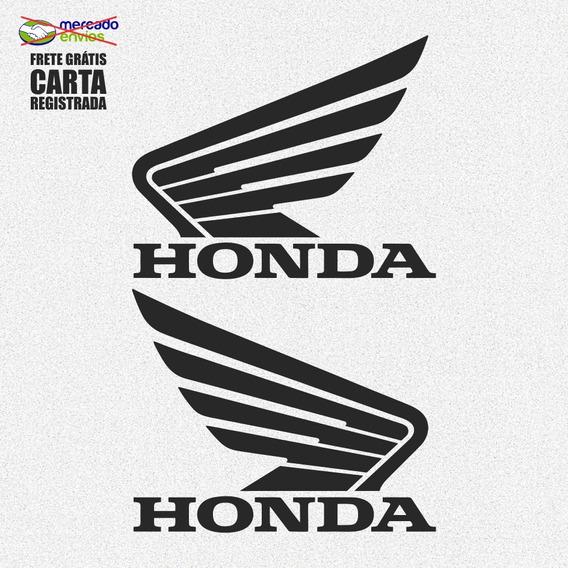 Par De Adesivos Logo Honda Motos 12cm A412