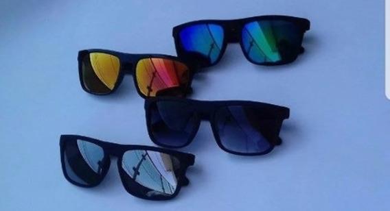 4 Óculos De Sol Masculino Quadrado Espelhado Atacado Lote