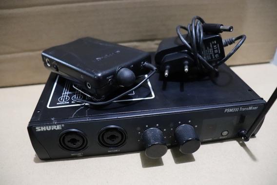 Shure In Ear Psm200 - Shure Psm 200 Usado Carregador Bateria