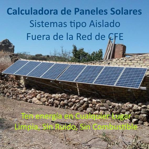 Calculadora De Kits De Paneles Solares Tipo Aislado