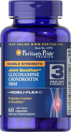 Glucosamina Doble Acción-60 Tabl - - Unidad a $667