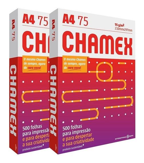 Chamex Sulfite A4 Com 500 Folhas (1000 Folhas) - 2 Pacotes