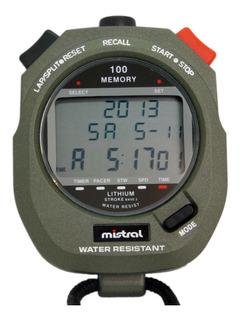 Cronómetro Mistral Swc-8376-08-c Deportivo 100 Vueltas