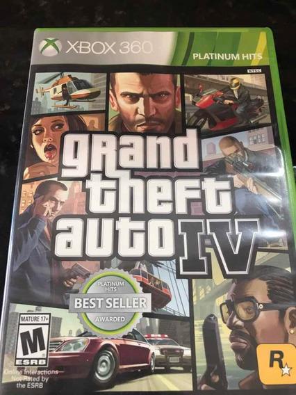 Jogo Xbox 360 Gta 4 Original Mídia Física
