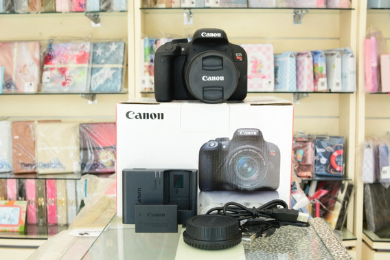 Câmera Canon T7i Kit C/ Lente 18-55 *nova* Sem Uso 00 Clicks