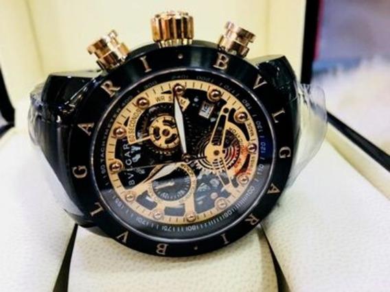 Relógio Bvlgari Skeleton 100% Funcional Preto