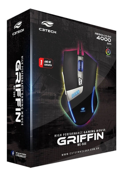 Mouse Gamer Usb Griffin Mg-500bk C3 Tech