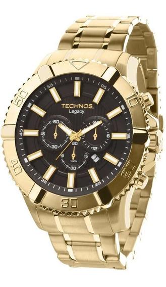 Relógio Masculino Technos Dourado Classic Legacy Original Nf