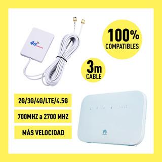 Antena Mimo 28dbi 4g Lte 3g Alta Ganancia Huawei B612 Claro