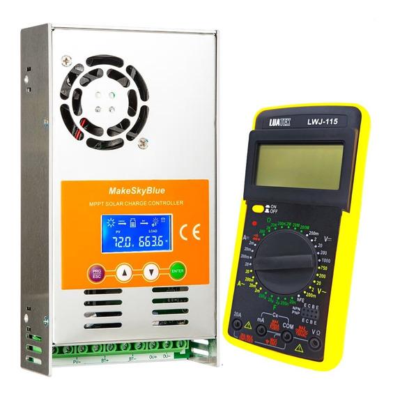 Kit Controlador De Carga Solar Mppt 60a Makeskyblue V118