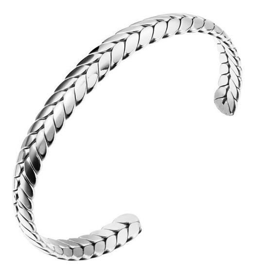 Bracelete Trançado Aço Inox