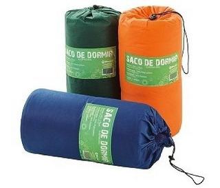 Saco De Dormir 192cm X 75cm Com Zipper - Azul Ou Verde
